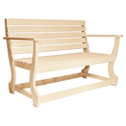 Скамья с подлокотником с фигурными ножками 160х61х90 см