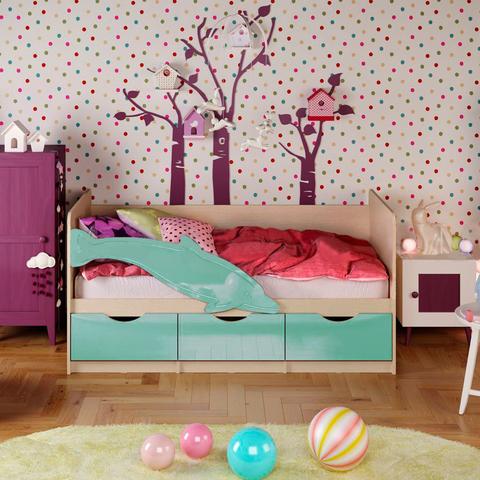Кровать Дельфин-1 бирюза