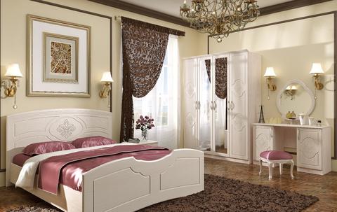 Кровать 1,6м Лилия БТС Дуб атланта/Лен белый