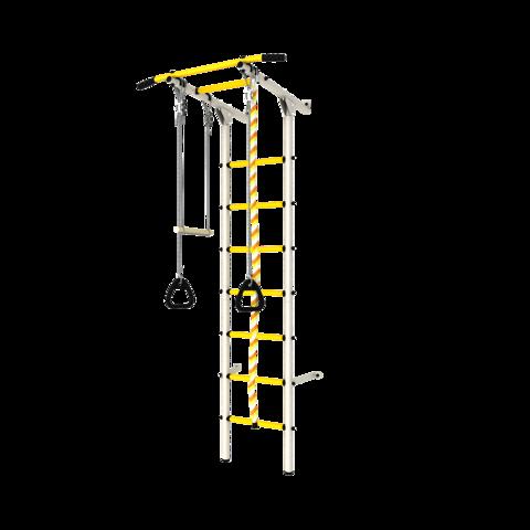 Шведская стенка (dsk с окрашенными ступенями) белый