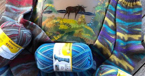купить пряжу для носков Regia Design Line Mountains and Fjords Color 7033