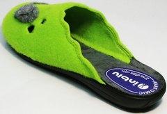 Домашние тапочки для девушек Inblu NC- 1B Mouse Light Green