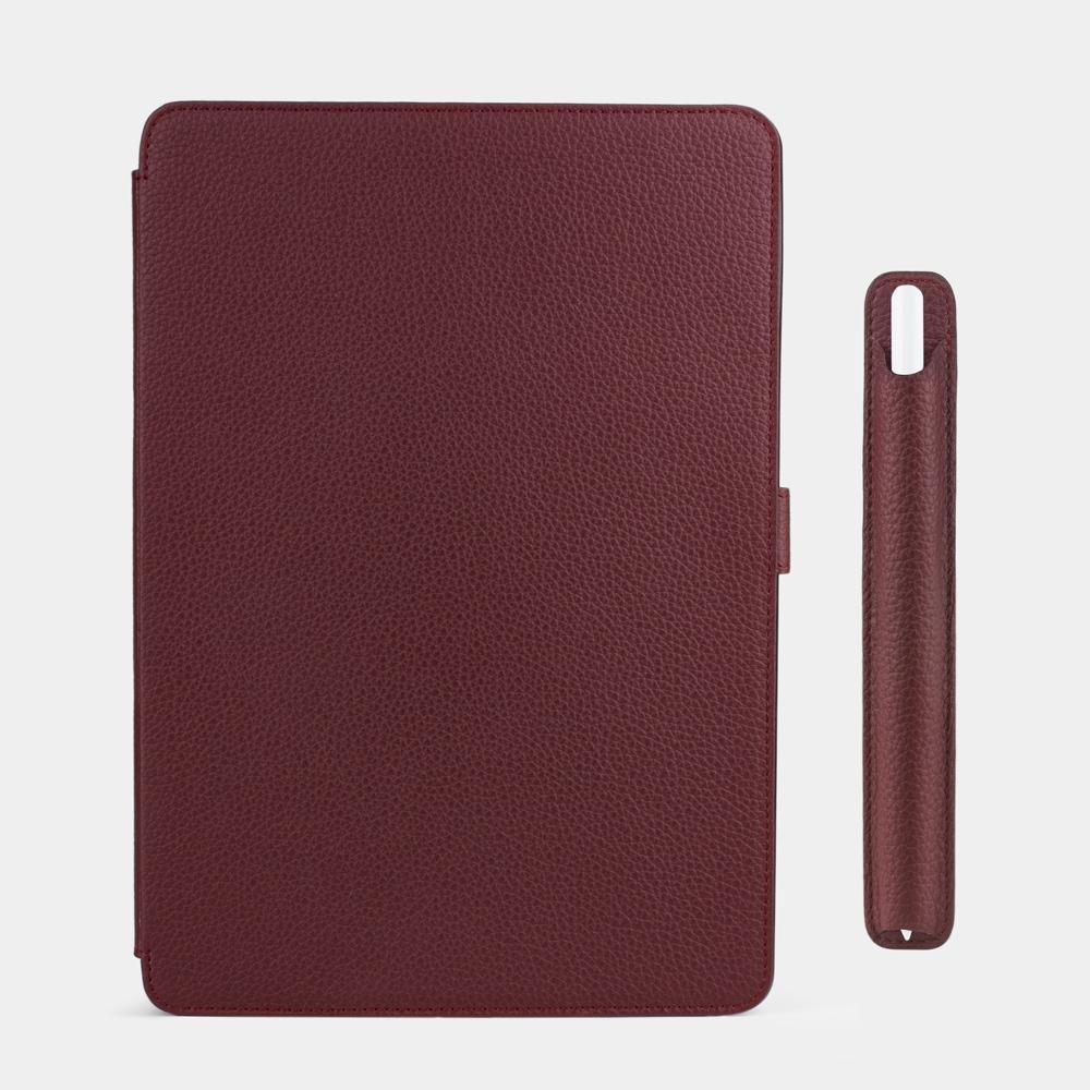 Чехол для ручки Stylus Easy из натуральной кожи теленка, бордового цвета