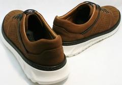 Туфли спортивные мужские кожаные Vitto Men Shoes 1830 Brown White