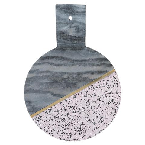 Доска сервировочная из мрамора и камня Elements D 25 см