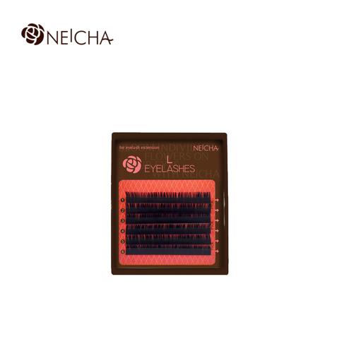 Ресницы NEICHA нейша MIX 6 линий L-изгиб Curve Natural тёмно-коричневые