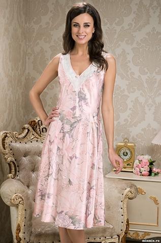Длинная шелковая сорочка Mia-Amore EDEM (70% нат.шелк)