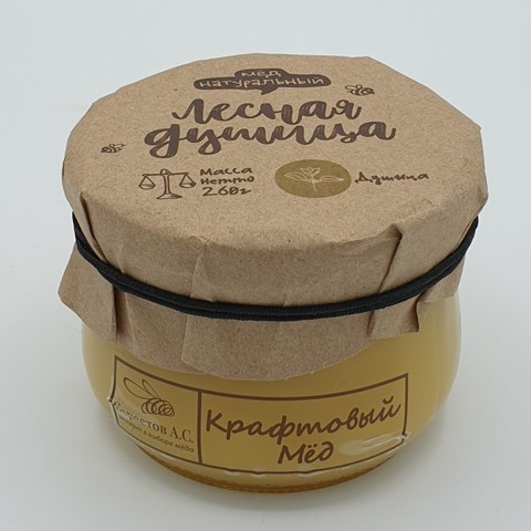 Мёд натуральный крафтовый Лесная Душица БЕРЕСТОВ А.С., 260 гр