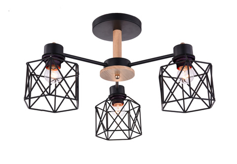 Потолочный светильник Escada 508/3PL E27*60W Black