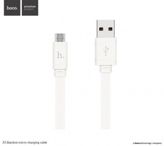 USB-micro USB b Hoco X5 Bamboo 1 м: БЕЛЫЙ
