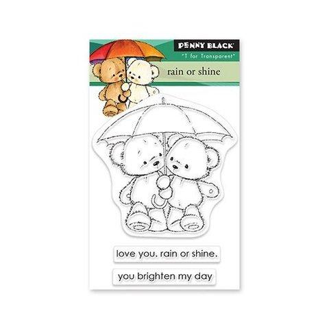 Набор штампов Penny Black Clear Stamps -Rain Or Shine
