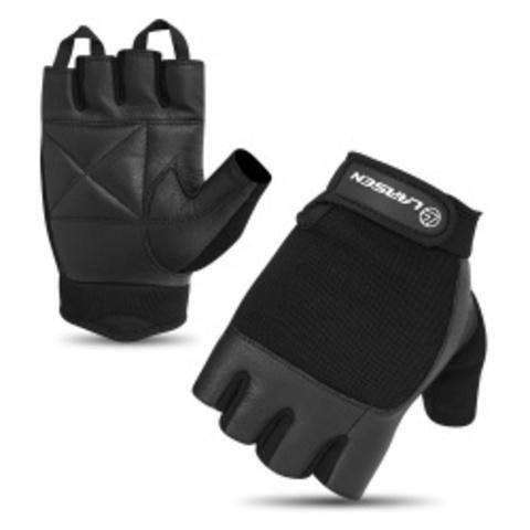 Перчатки для т/а и фитнеса (нат.кожа) Larsen 16-8341 black (M)