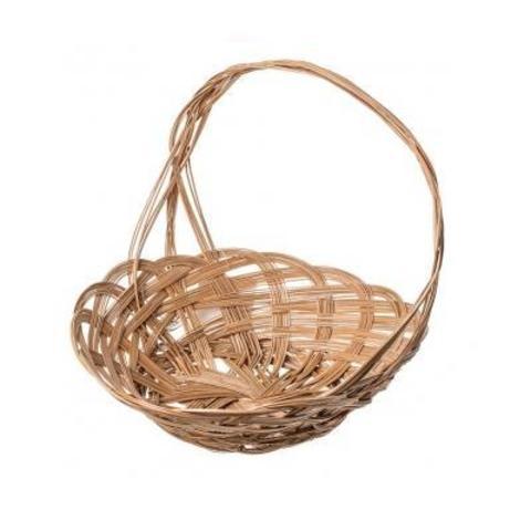 Корзина плетеная Шляпа, D30,5x5xH28см, натуральный