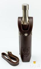 Фляга бутылка «СССР», в коричневом чехле, 500 мл, фото 1