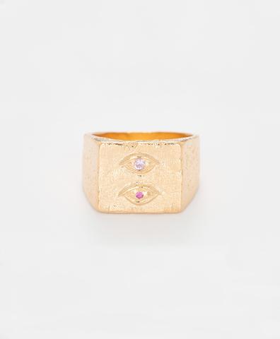 Кольцо Lovers Eye Ring Gold