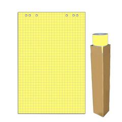Бумага для флипчартов Attache Selection 68х98 см желтая 20 листов в клетку (80 г/кв.м)