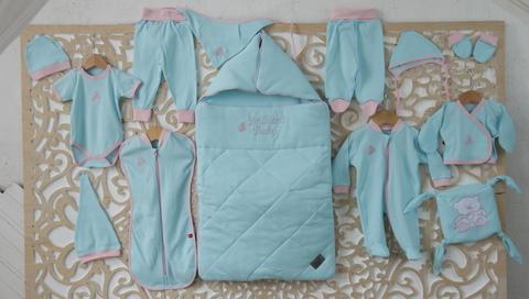 Набор для новорожденного Baby Box 14 предметов (голубой)
