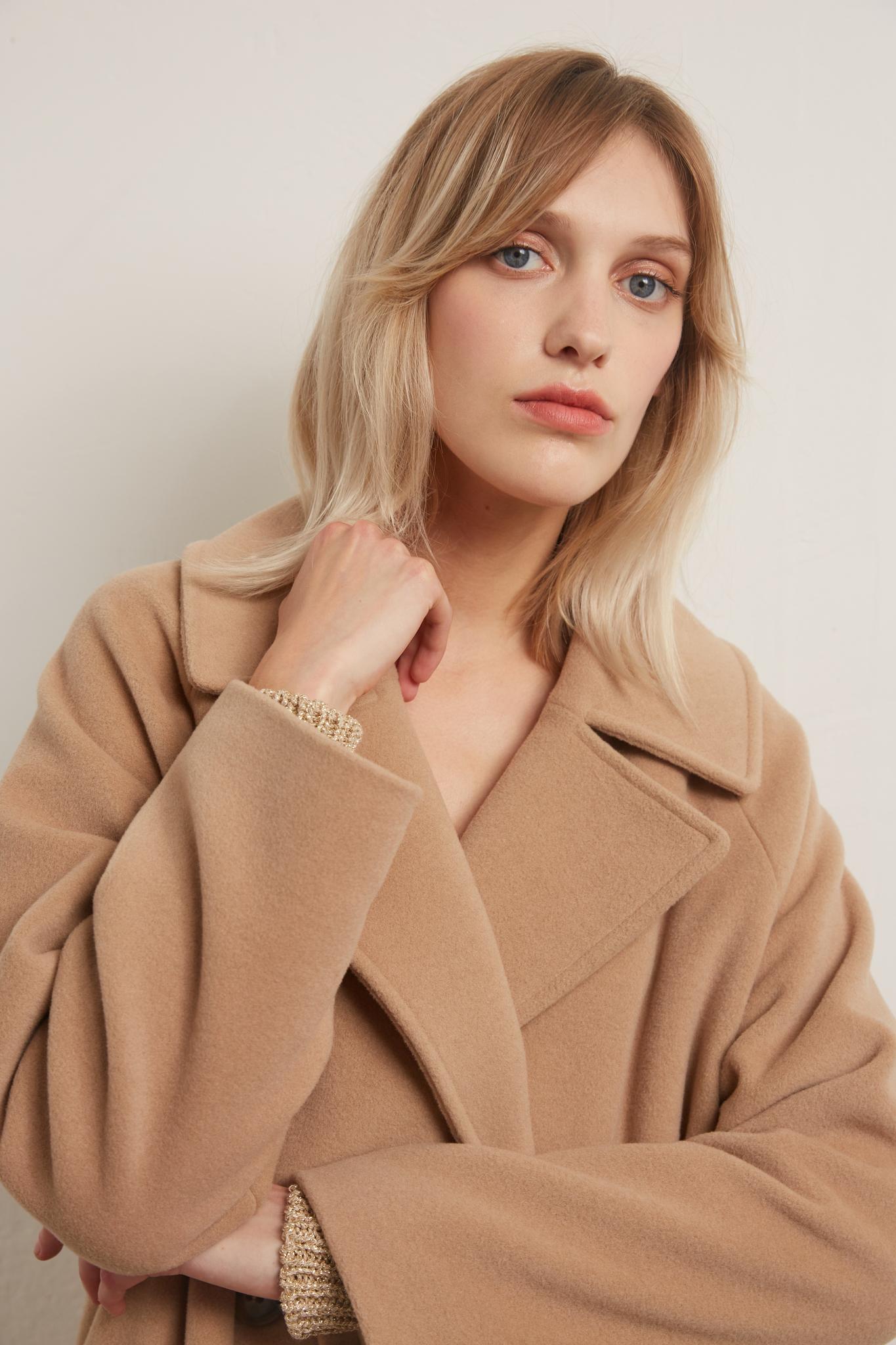 SETH - двуборотное пальто из шерсти