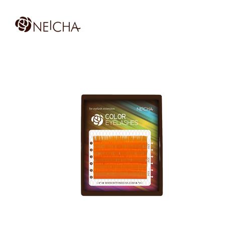 Цветные ресницы NEICHA оранжевый MIX 6 линий
