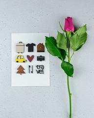 Открытка «С любовью к путешествиям!», 10,5×14,7 см