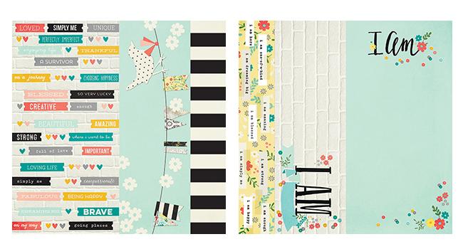 Лист двухсторонней бумаги 30х30см  I AM... by Simple Stories