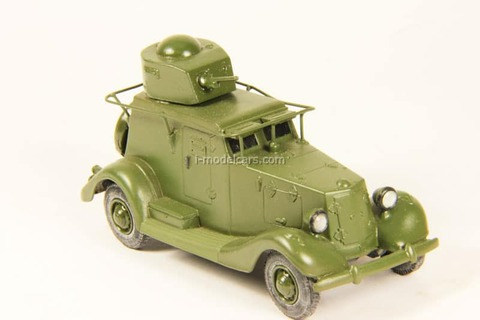 BA-20 armored car with handrail aerial Vector-models 1:43