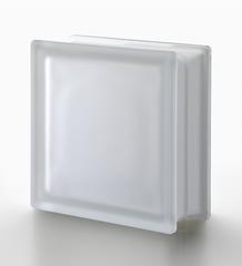 Стеклоблок матовый бесцветный гладкий Neutro  Vetroarredo Q19/T SAT  19x19x8