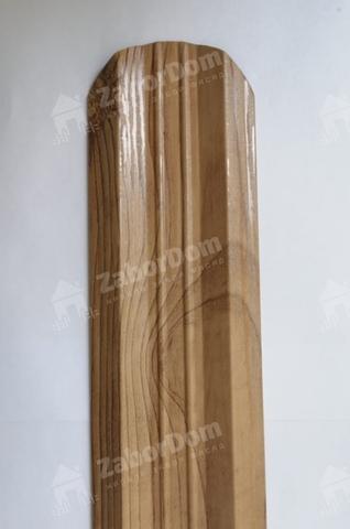 М-образный штакетник металлический 95 мм Светлое дерево двухсторонний 0.5 мм