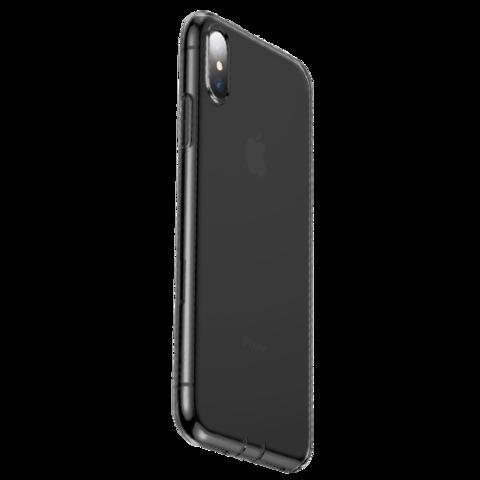 Baseus / Чехол Baseus Glaze Simplicity (dust-free) для iPhone Xs | Прозрачный черный