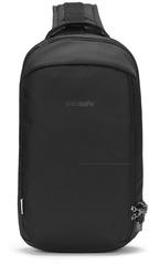 Рюкзак однолямочный Pacsafe Vibe 325 sling, черный econyl, 10 л. - 2