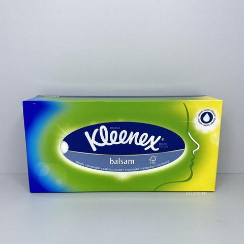 Бумажные салфетки косметические 3сл. Kleenex Balsam в коробке (80 шт.)