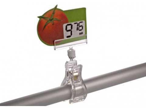 Ценникодержатель универсальный FX-0,  на прищепке, прозрачный