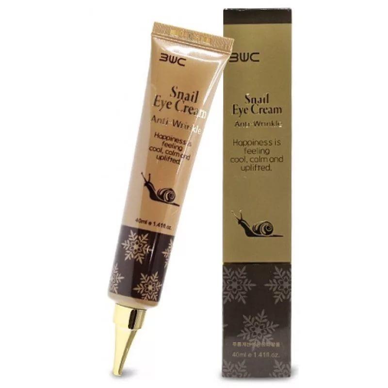 Крем с муцином улитки 3W Clinic Snail Eye Cream Anti-Wrinkle, 40 ml