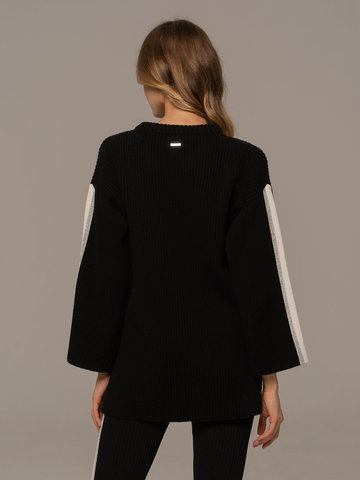 Женский джемпер черного цвета из шерсти и кашемира - фото 2
