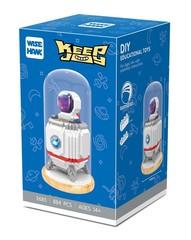 Конструктор в колбе Wisehawk Космонавт в ракете 884 детали NO. 2685 Astronaut in rocket Keep Joy Series