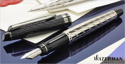 Перьевая ручка Waterman Expert 3 Precious CT, цвет: Black, перо: F123