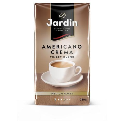 Кофе молотый Jardin Americano Crema 250 г (вакуумная упаковка)