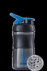 Шейкер-фляга Blender Bottle SportMixer 591мл Black/Cyan [черный/бирюзовый]