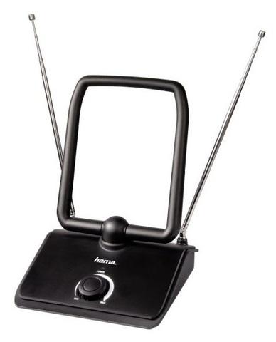 Антенна телевизионная Hama H-44273 40дБ активная черный каб.:1.5м