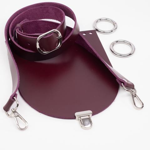 """Комплект для сумочки Орео """"Вино"""". Ручка через плечо и замок """"Малыш"""""""