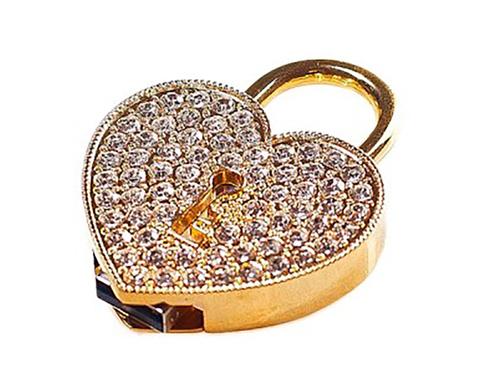 usb-флешка сердце с замочком