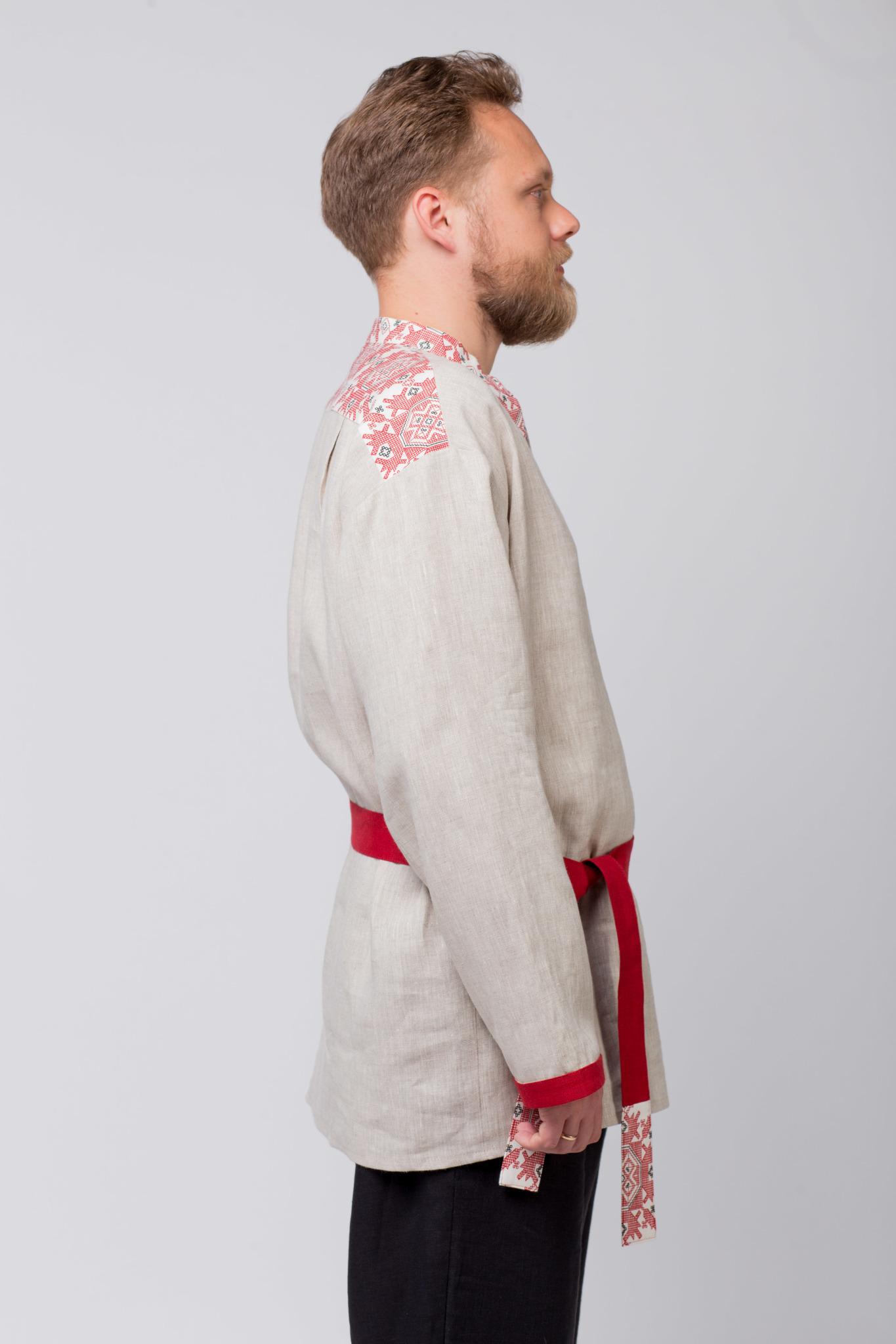 Русская рубаха Земледелие вид сбоку