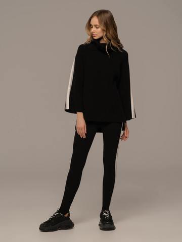 Женский джемпер черного цвета из шерсти и кашемира - фото 3