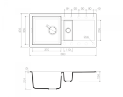 Схема Omoikiri Sakaime 86-2-CH