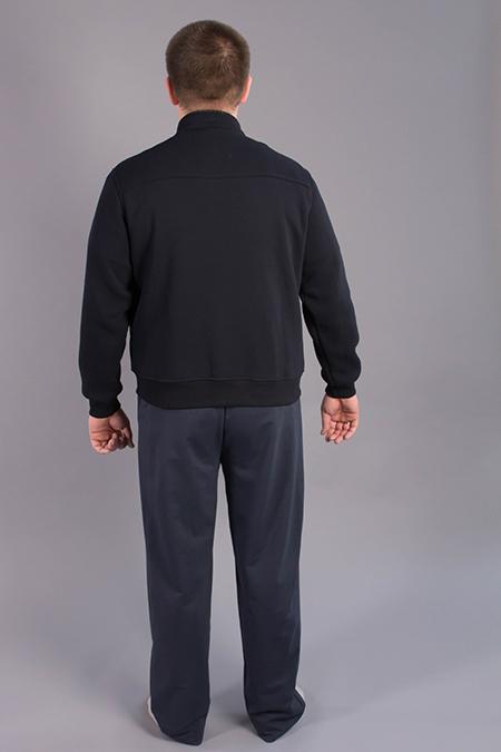 Выкройка мужской толстовки вид сзади