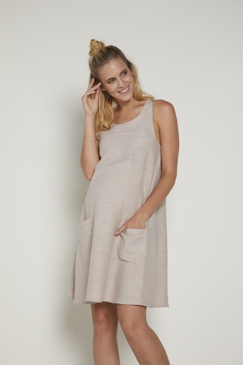 Фото платье для беременных GEBE, сарафан от магазина СкороМама, бежевый, размеры.