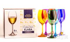 Набор бокалов для вина 250 SYLVIA/KLARA цветные (6 шт), фото 1