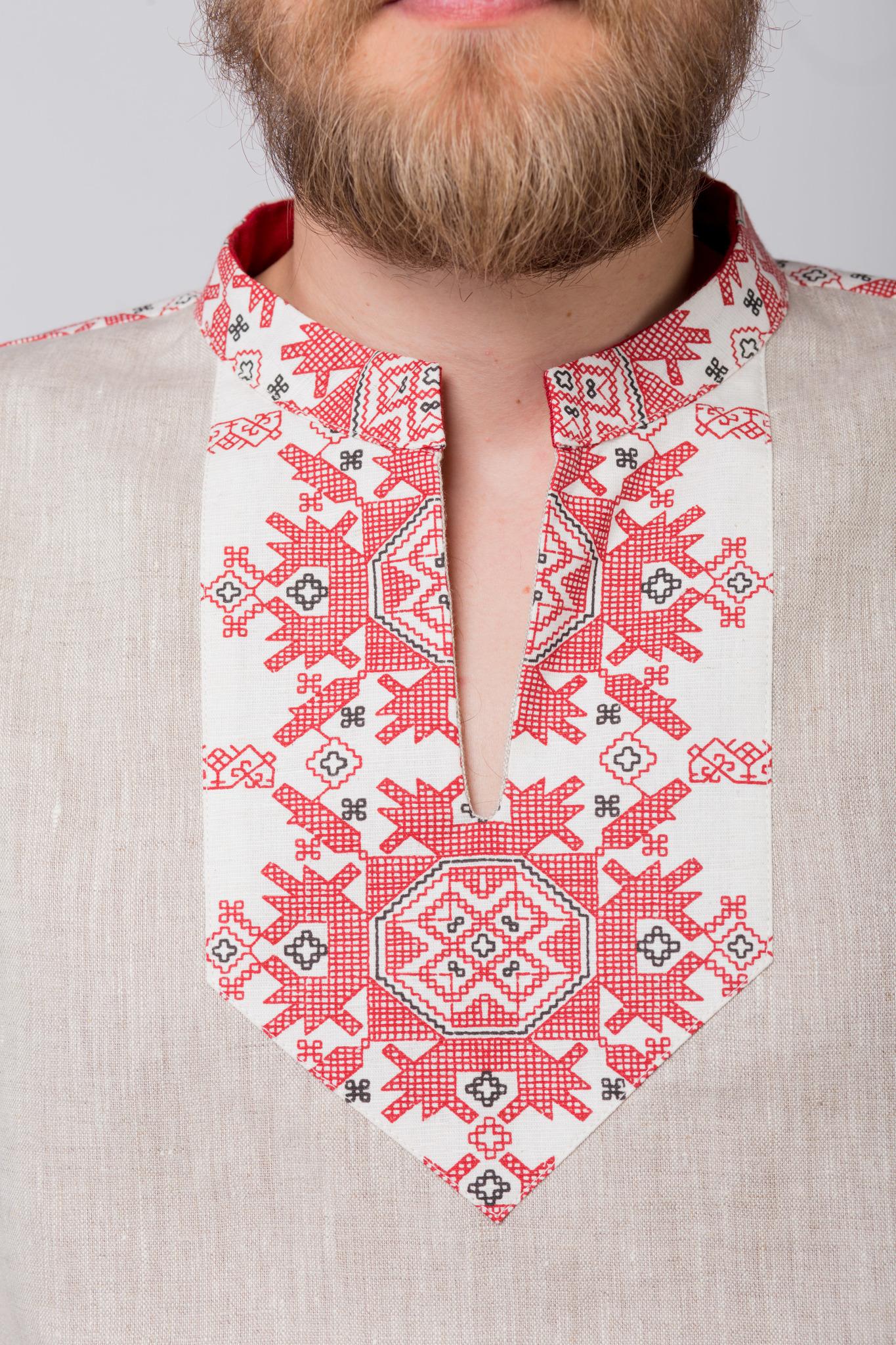Русская рубаха Земледелие орнамент