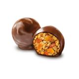 Shoco Rolls  с арахисом  изюмом  цукатами апельсина и медом  в шоколадной глазури Galagancha 135 г