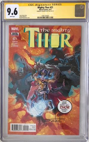 CGC The Mighty Thor #21. Автограф  Валерио Скити. Состояние 9,6 (уценка)